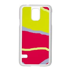 Red and yellow design Samsung Galaxy S5 Case (White)