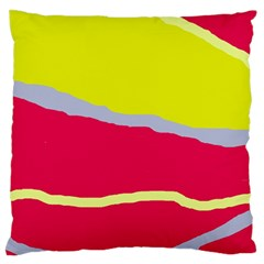 Red and yellow design Large Flano Cushion Case (One Side)