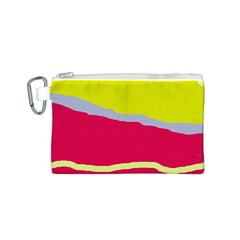 Red and yellow design Canvas Cosmetic Bag (S)