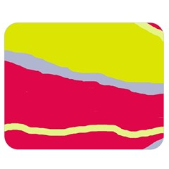 Red and yellow design Double Sided Flano Blanket (Medium)