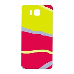 Red and yellow design Samsung Galaxy Alpha Hardshell Back Case