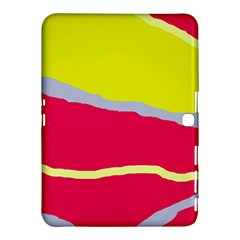 Red and yellow design Samsung Galaxy Tab 4 (10.1 ) Hardshell Case