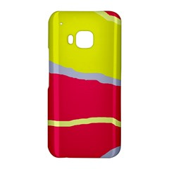 Red and yellow design HTC One M9 Hardshell Case