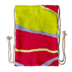 Red and yellow design Drawstring Bag (Large)