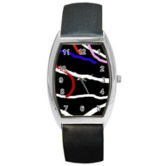 Decorative lines Barrel Style Metal Watch