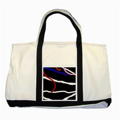 Decorative lines Two Tone Tote Bag