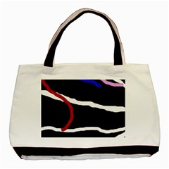 Decorative lines Basic Tote Bag (Two Sides)