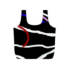 Decorative lines Full Print Recycle Bags (S)