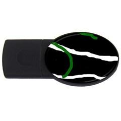 Decorative lines USB Flash Drive Oval (4 GB)