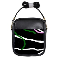 Decorative lines Girls Sling Bags