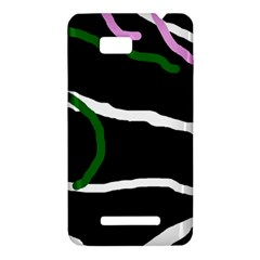 Decorative lines HTC One SU T528W Hardshell Case