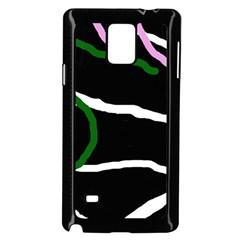 Decorative lines Samsung Galaxy Note 4 Case (Black)
