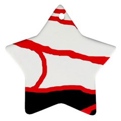 Red, black and white design Ornament (Star)