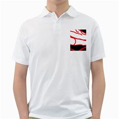 Red, black and white design Golf Shirts
