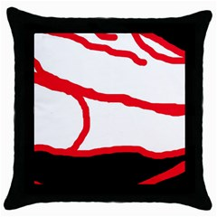 Red, black and white design Throw Pillow Case (Black)