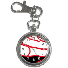 Red, black and white design Key Chain Watches