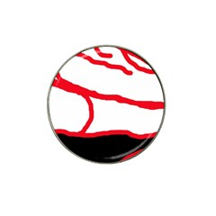 Red, black and white design Hat Clip Ball Marker (10 pack)