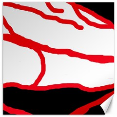Red, black and white design Canvas 12  x 12