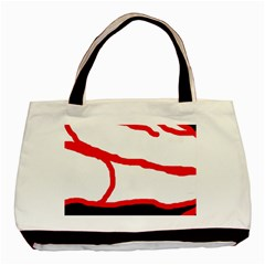 Red, black and white design Basic Tote Bag (Two Sides)