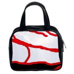Red, black and white design Classic Handbags (2 Sides)
