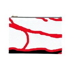 Red, black and white design Cosmetic Bag (Large)