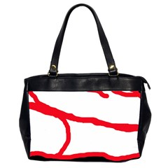 Red, black and white design Office Handbags (2 Sides)