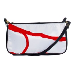 Red, black and white design Shoulder Clutch Bags