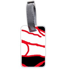 Red, black and white design Luggage Tags (One Side)