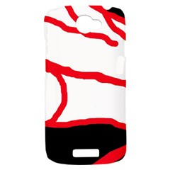 Red, black and white design HTC One S Hardshell Case