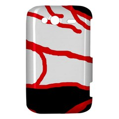 Red, black and white design HTC Wildfire S A510e Hardshell Case