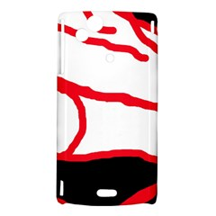 Red, black and white design Sony Xperia Arc