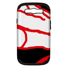 Red, black and white design Samsung Galaxy S III Hardshell Case (PC+Silicone)