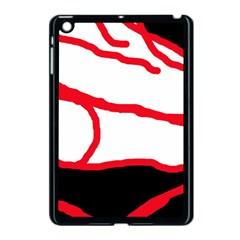 Red, black and white design Apple iPad Mini Case (Black)