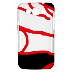 Red, black and white design Samsung Galaxy Win I8550 Hardshell Case