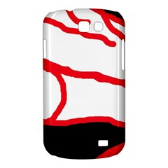 Red, black and white design Samsung Galaxy Express I8730 Hardshell Case