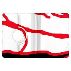 Red, black and white design Kindle Fire HDX Flip 360 Case