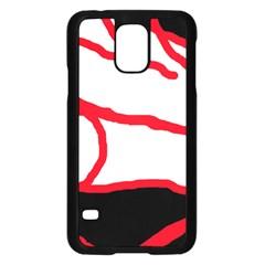 Red, black and white design Samsung Galaxy S5 Case (Black)