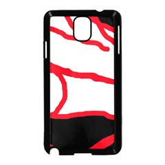 Red, black and white design Samsung Galaxy Note 3 Neo Hardshell Case (Black)