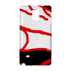 Red, black and white design Samsung Galaxy Note 4 Hardshell Case