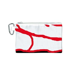 Red, black and white design Canvas Cosmetic Bag (S)