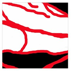 Red, black and white design Large Satin Scarf (Square)