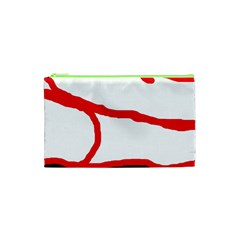 Red, black and white design Cosmetic Bag (XS)