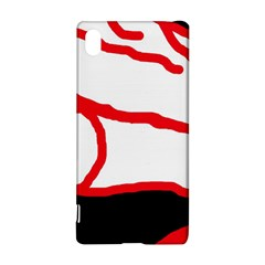 Red, black and white design Sony Xperia Z3+