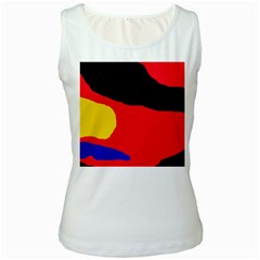 Colorful abstraction Women s White Tank Top