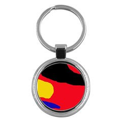 Colorful abstraction Key Chains (Round)