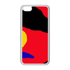 Colorful abstraction Apple iPhone 5C Seamless Case (White)