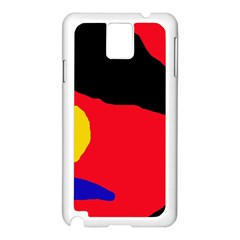 Colorful abstraction Samsung Galaxy Note 3 N9005 Case (White)