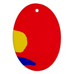 Colorful abstraction Ornament (Oval)