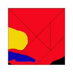 Colorful abstraction Acrylic Tangram Puzzle (6  x 6 )