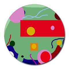 Optimistic abstraction Round Mousepads
